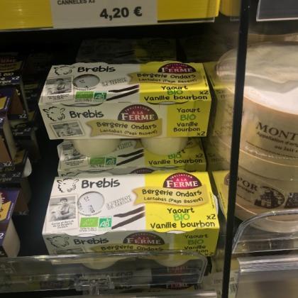yaourt vanille BIO